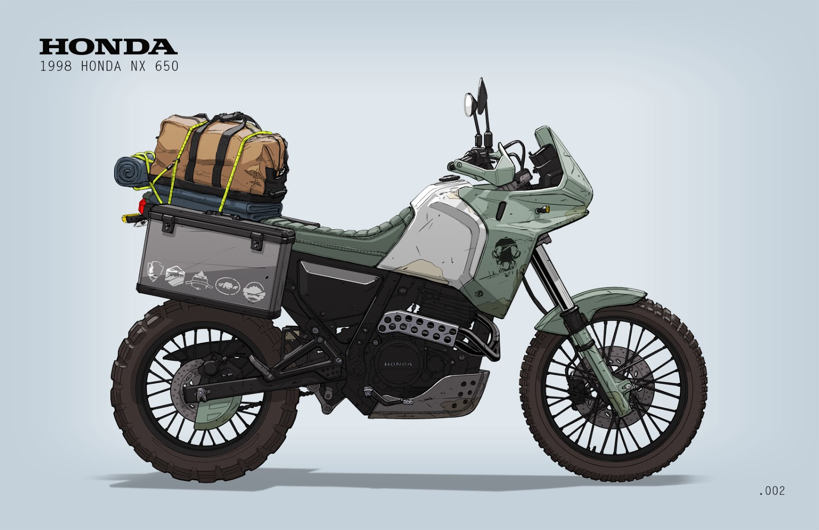 ian galvin garage prospect no 002 adventure bike. Black Bedroom Furniture Sets. Home Design Ideas