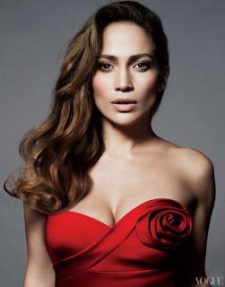 Jennifer lopez strapless red dress