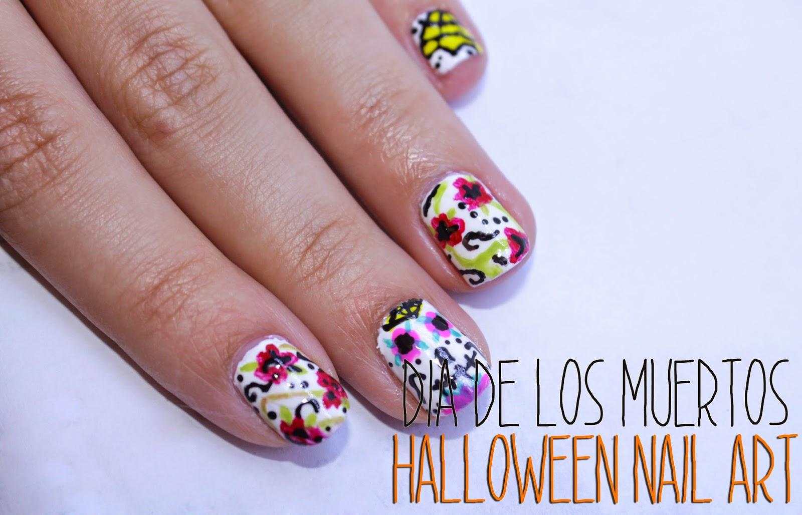 Chingu Nails: halloween nail art - Dia de los muertos