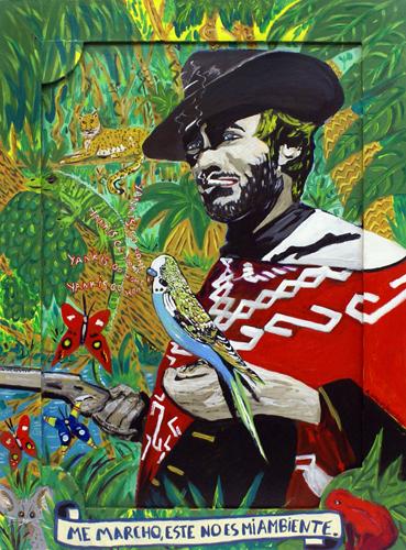 Me marcho este no es mi ambiente,  Agustí Garcia Monfort, Bad Painting, EL BUENO, EL MALO, JOHN WAYNE, Pinturas,