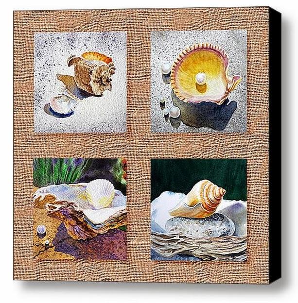 painting sea shells
