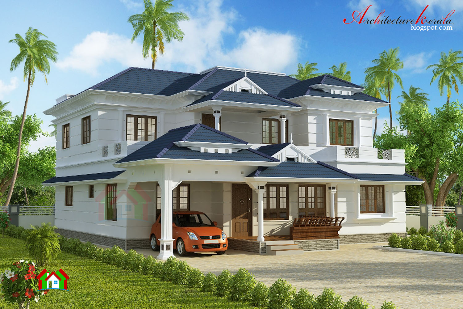 3000 square feet house plan architecture kerala for 3000 square foot home