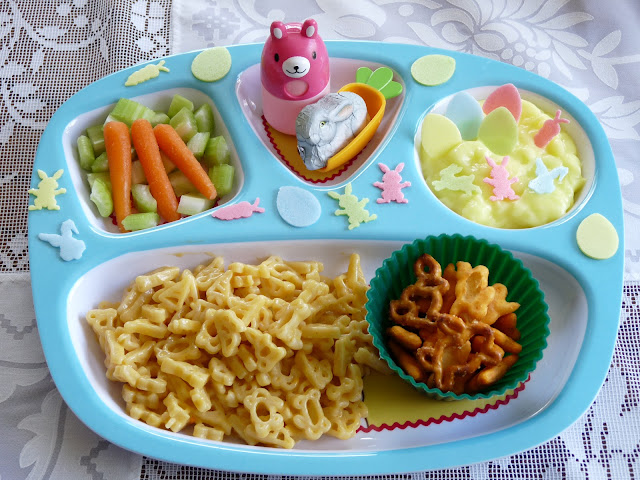 macaroni cheese easter bunny lunch