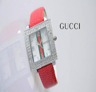 jam tangan keren GUCCI 2043 RED