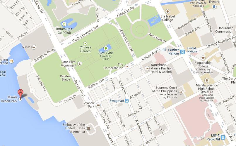 TheWalkingDeng Manila Ocean Park A Holiday Destination - Us embassy manila map