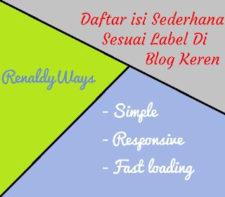 Cara Membuat Daftar Isi Sederhana Sesuai Label Di Blog Keren
