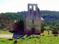L'església de Santa Maria de Merola vista des de ponent