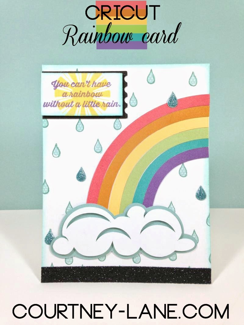 Cricut Rainbow card
