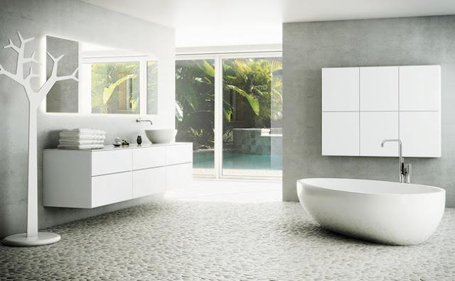 Tenkt å lukke seg inn på dette badet og krype ned i badekaret!...