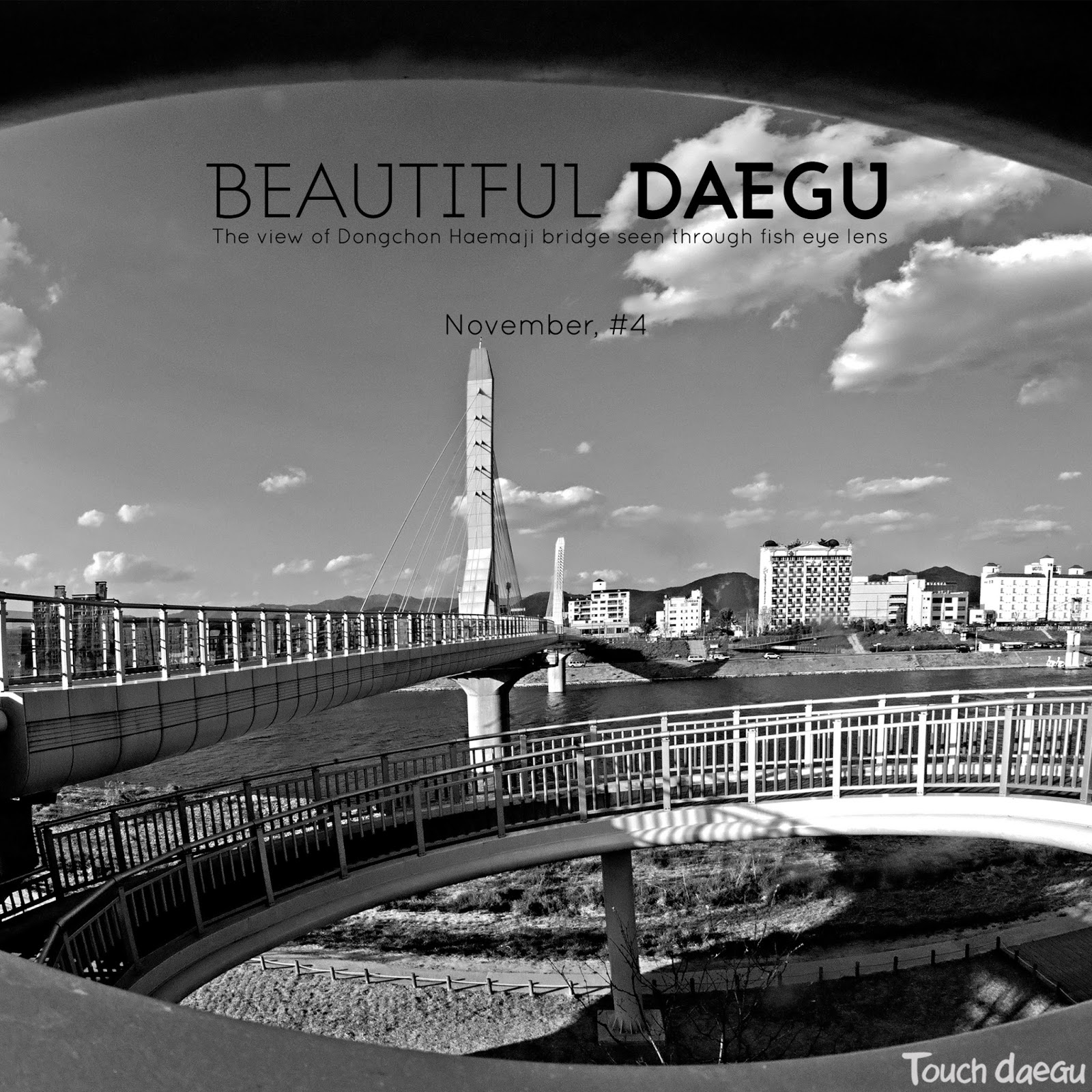 The view of Dongchon Haemaji bridge seen through fish eye lens