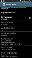 Android 4.3 on Galaxy Note II