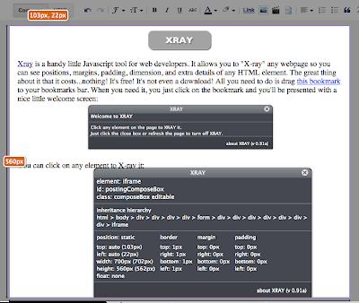 Xraying HTML elements