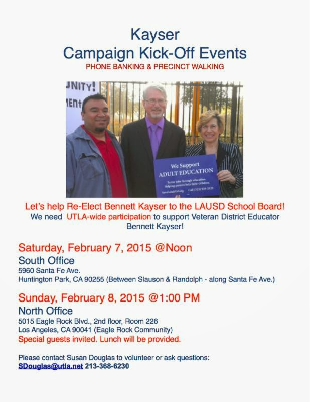 Re-elect Ethnic Studies Supporter Bennett Kayser to LAUSD Board of Education