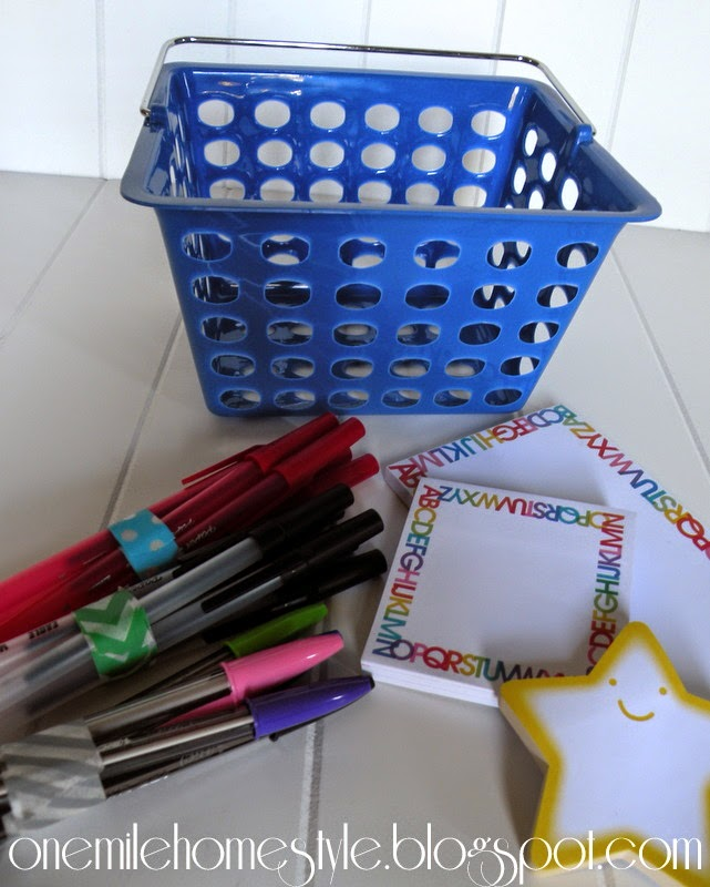 Back to School Teacher Gift Basket with Notepads and Pens
