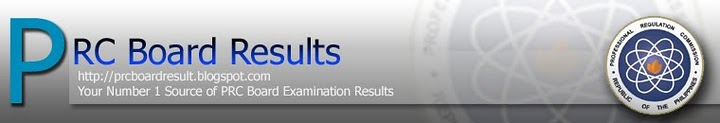 PRC Board Examination Results