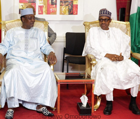 President of Chad visits GEJ, Buhari in Abuja, says he doesn't know where Shekau is !!