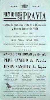 CARTEL TOROS PRAVIA ASTURIAS 1949