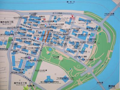 汐入地区の地図