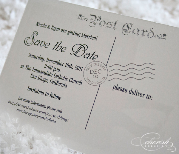 Beautiful Is This Save The Date Post Card From Fonts To Layout Picture Chose It S Just Perfect For Their December Wedding