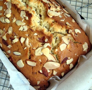 ginger almond yogurt cake