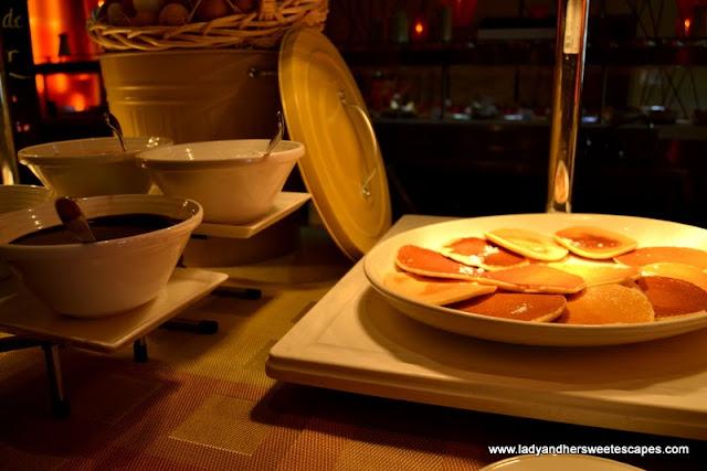 Pancakes at Choices in Yas Island Rotana
