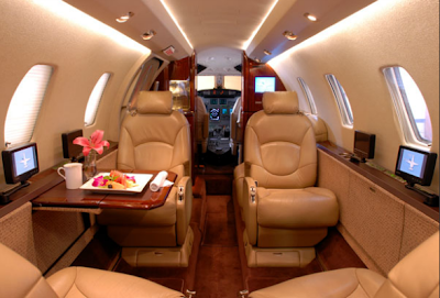 Private Jet Charter Interior