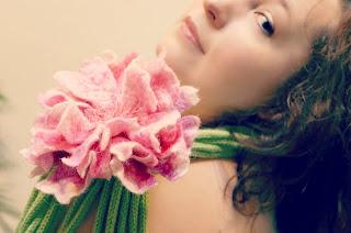 felt brooch flower