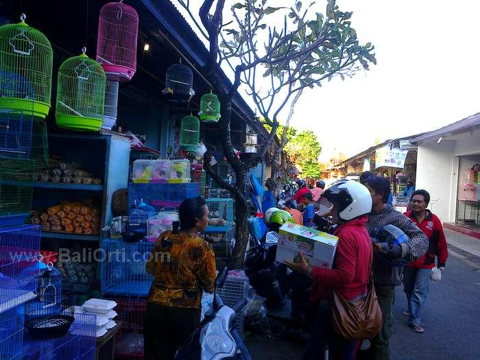 Sales in Satria Bird Market Denpasar