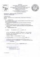 Subiecte Definitivat Matematica - Bacau 2011