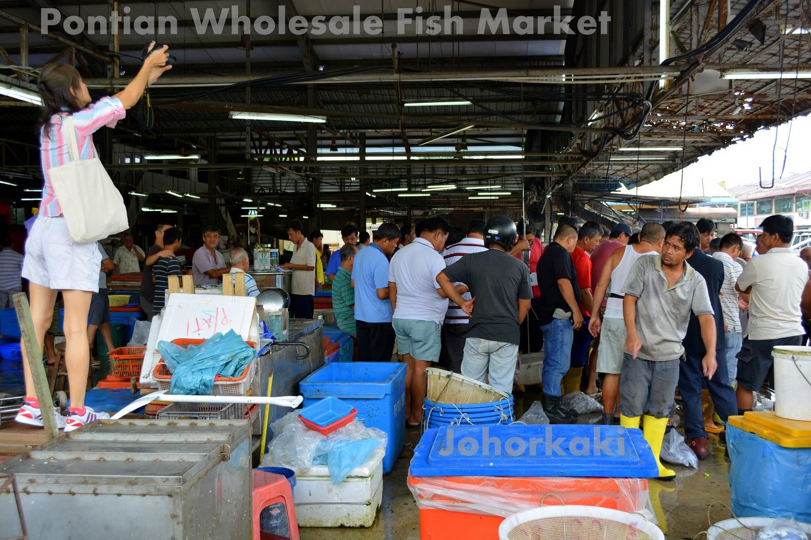 Pontian wholesale fish market second post johor kaki for Wholesale fish market