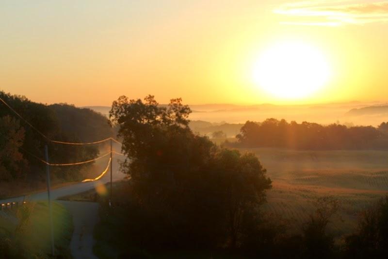 sunrise and fog over Litengård - Little Farm
