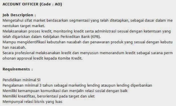 lowongan kerja bank multi arta sentosa bogor agustus 2014