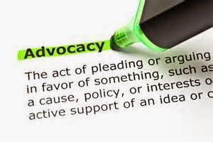 "The word ""Advocacy"" being highlighted by a green highlighter pen"