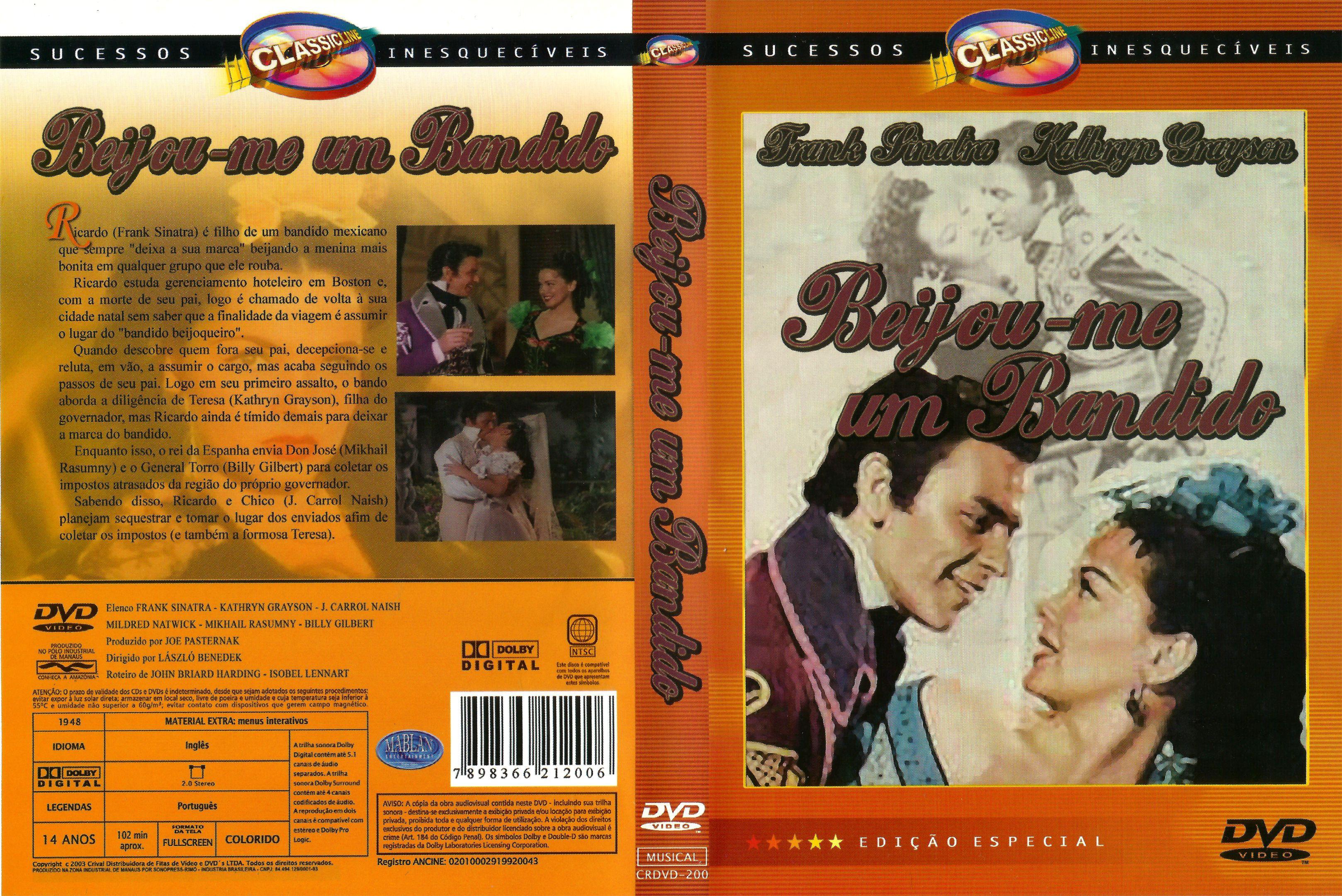 Capa DVD Beijou-me Um Bandido