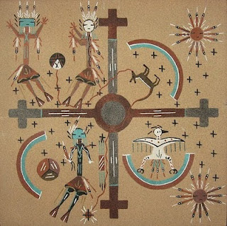 Unbelievable artintings graphics sculpture and craft floor paintings native american sand painting freerunsca Images