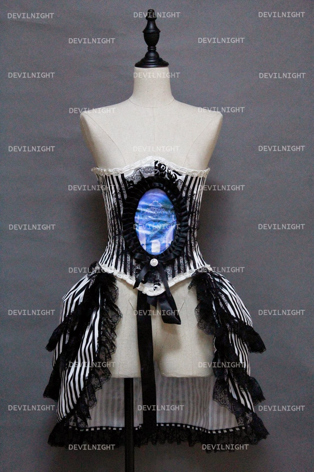 Gothic Corset Steampunk Burlesque Party Dress