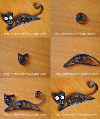 Beginners black cat quilling