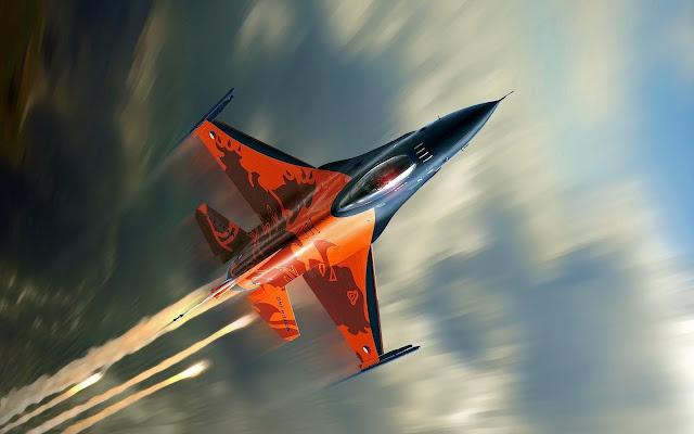 Gambar Pesawat Tempur F-16 Fighting Falcon waow