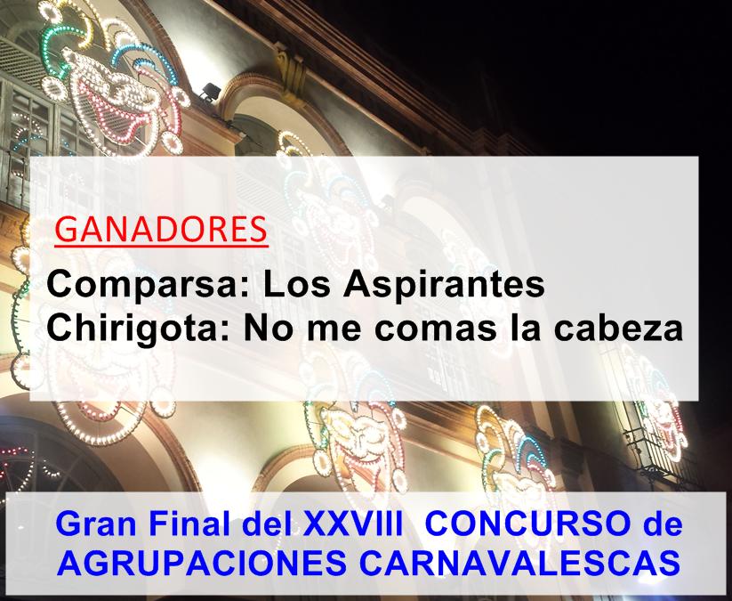 Ganadores del Carnaval de Alcalá 2015