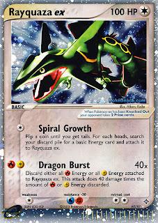 Rayquaza ex Pokemon Card EX Dragon Set