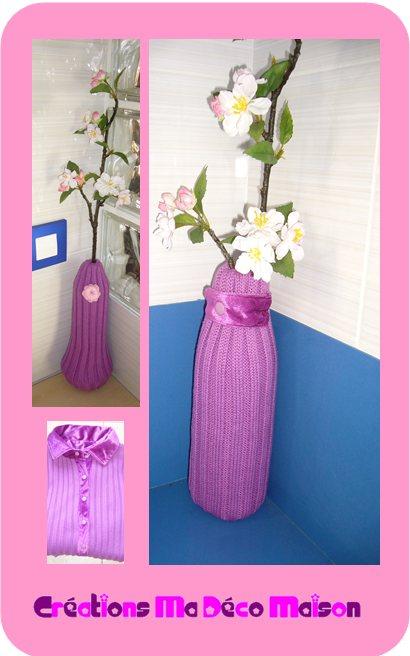 Deux+vases+customis%C3%A9s طرق بسيطة وجميلة لإستغلال القارورات