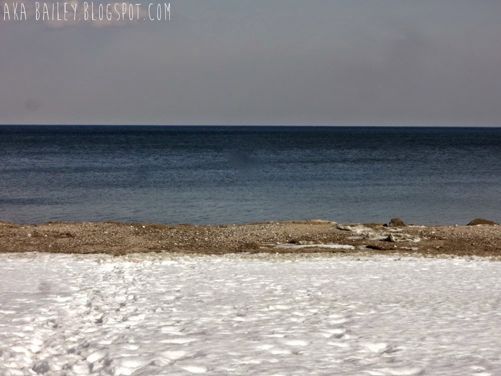 Revere Beach under snow