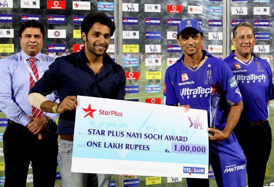 Rahul-Dravid-Nayi-Soch-Award-RR-vs-CSK-IPL-2013