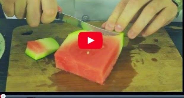 فيديو : نحن نأكل البطيخ بالخطأ 1