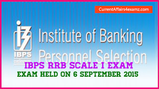 IBPS RRB Scale 1 September 2015