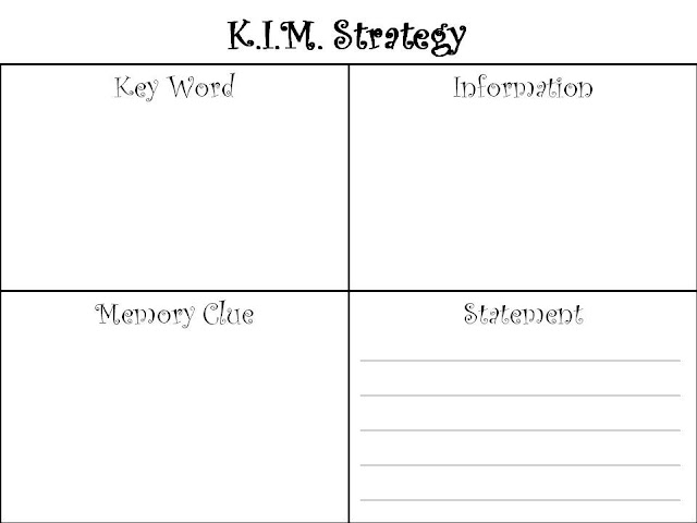 A Day In The Life Of A Title I Teacher: Vocabulary Idea- K.I.M.S ...