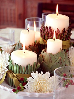 vegetable candle holders