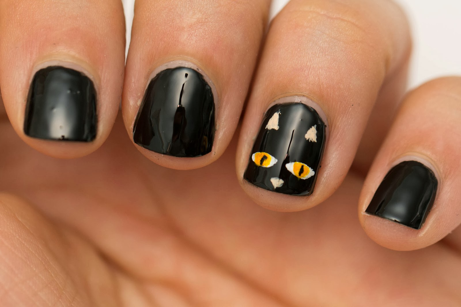 Nail art for short nails easy : Beauty by arielle quick and easy halloween nail art for