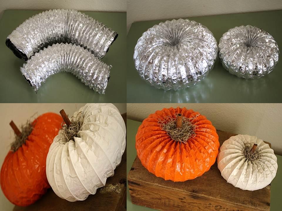Ideas para reciclar calabazas hecha de tubos - Adornos de halloween para hacer en casa ...
