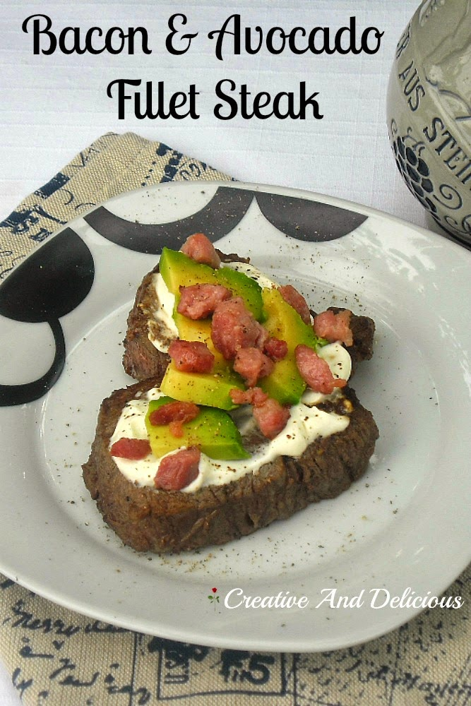 Bacon and Avocado Fillet Steak ~ Steakhouse Copy-Cat recipe !   #Steak #FilletSteak #BBQ #Grill #Fry